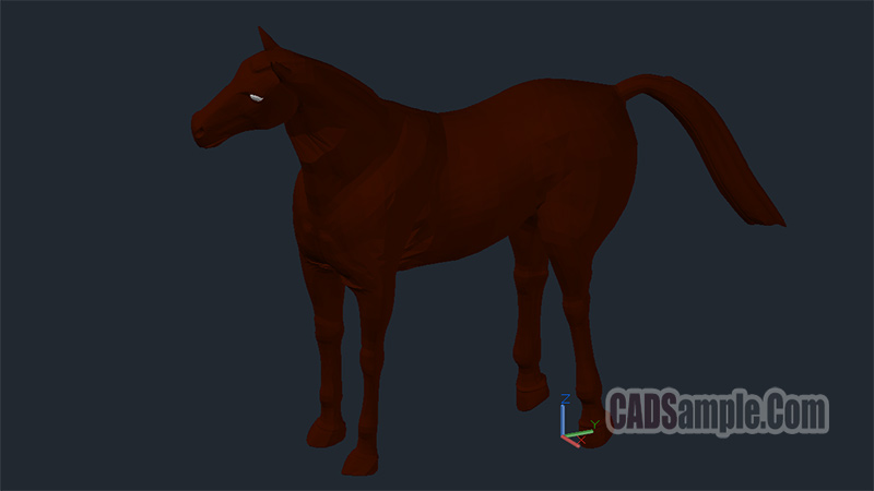 horse 3d drawings  u00bb cadsample com