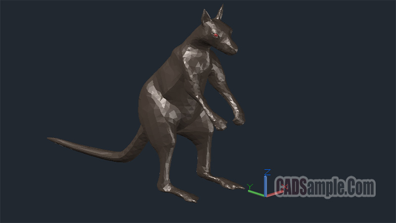 Kangaroo 3D Drawing