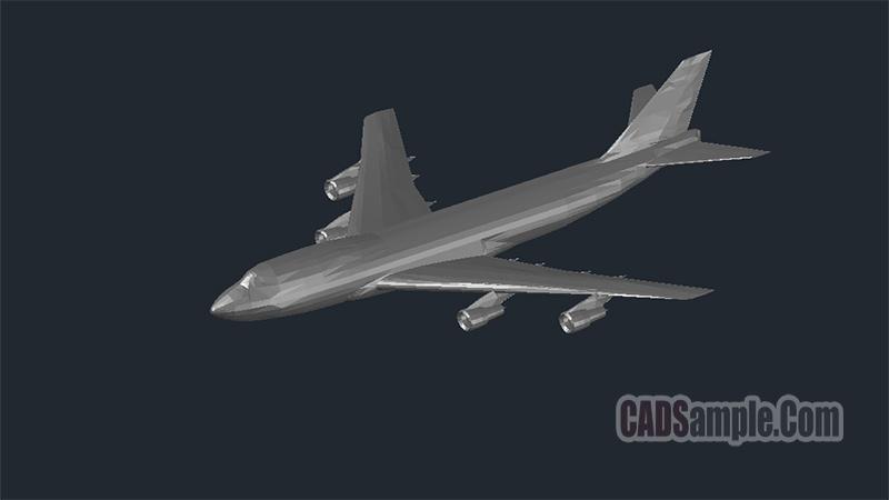 Boeing 747 3D Dwg