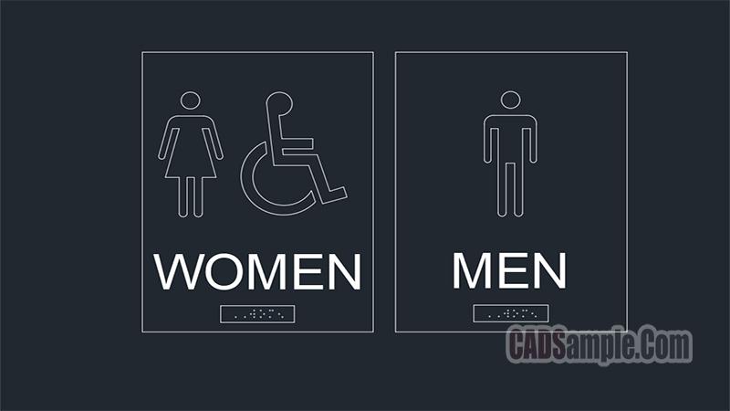 Men Women Symbol Dwg
