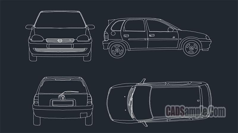 Opel Corsa Drawings