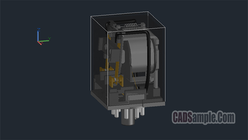 Relay 3D Autocad Drawing