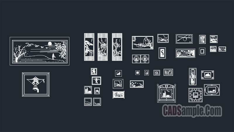Wall Painting Collection Cad Blocks