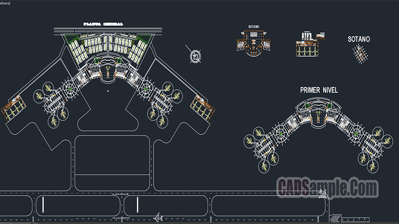 Airport And Airport Control Tower Dwg