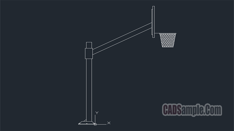 Basketball Hoop Pole Drawings