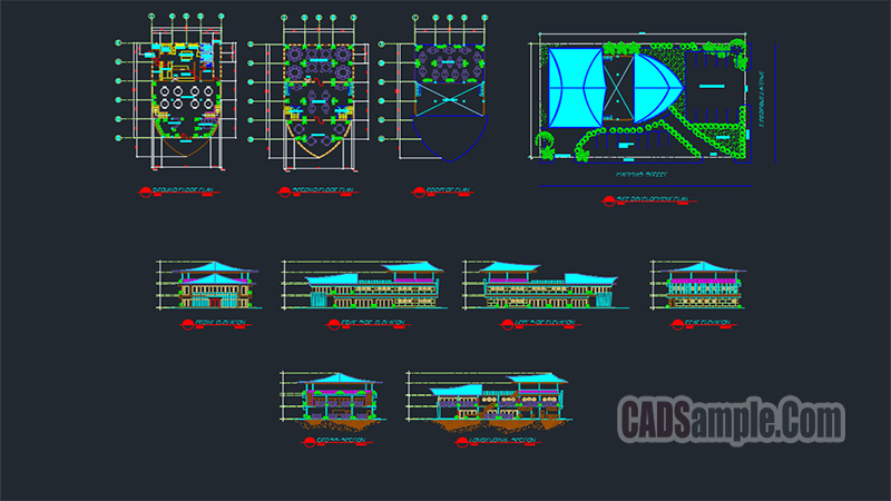 Restaurant Coffee Center Dwg Project