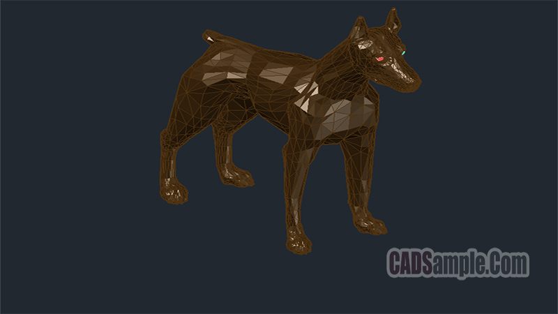 Doberman Dog Autocad Drawing