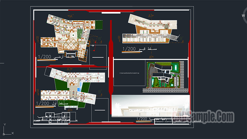 Emergency Hospital Dwg Project