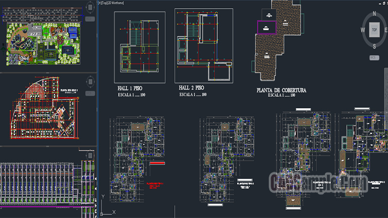 Grand Tourist Hotel Dwg Project