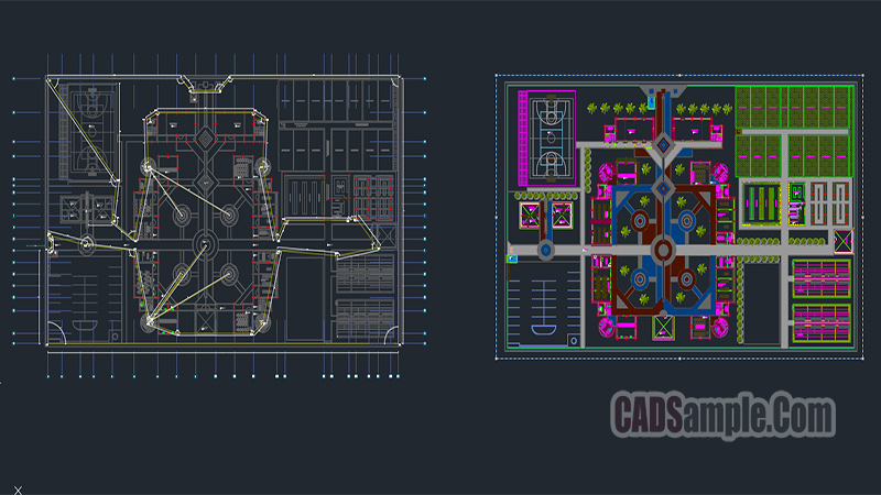 Educational institute Autocad Project