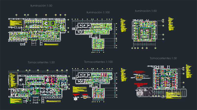 Hospital Electrical Autocad Project