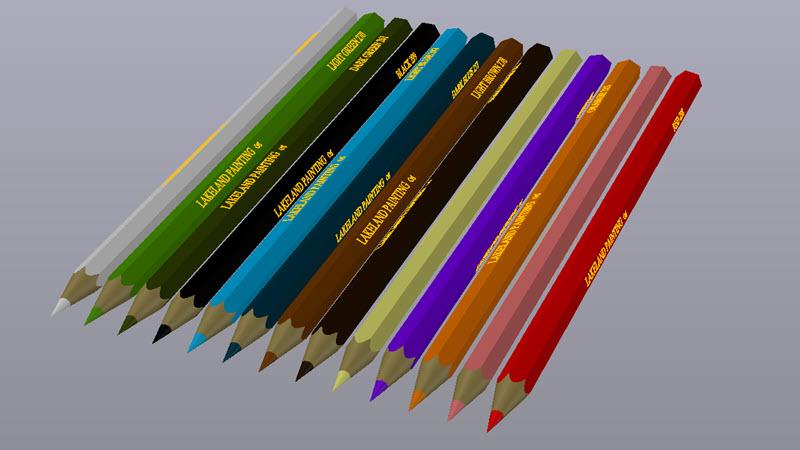 Crayon 3D Dwg