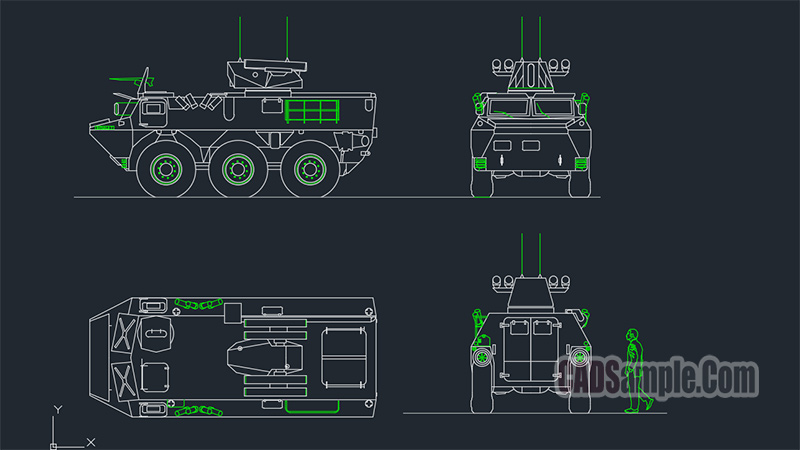 Armored Personnel Carrier Dwg