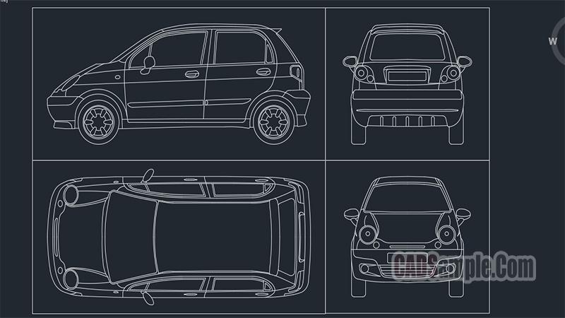 Daewoo Matiz Dwg Drawings