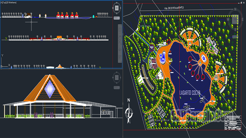Ecological Holiday Center Dwg Project