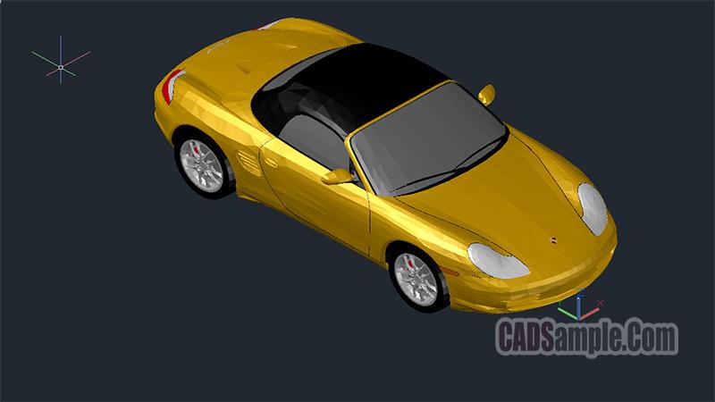 Porsche Boxter 3D Cad Drawing