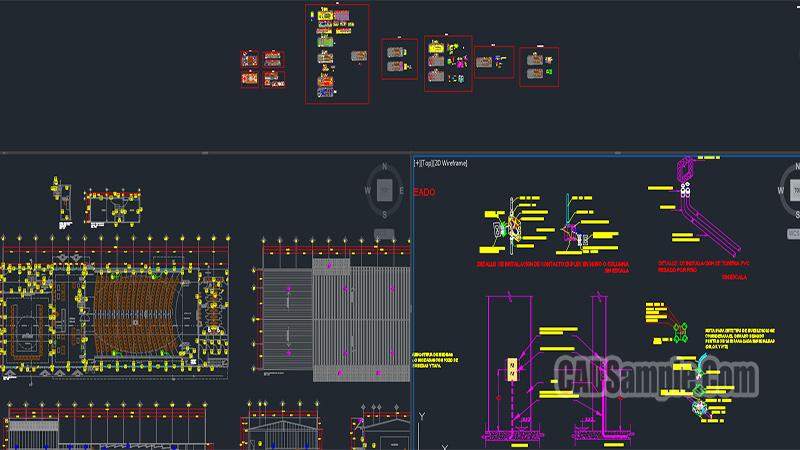 Auditorium Full Dwg Project