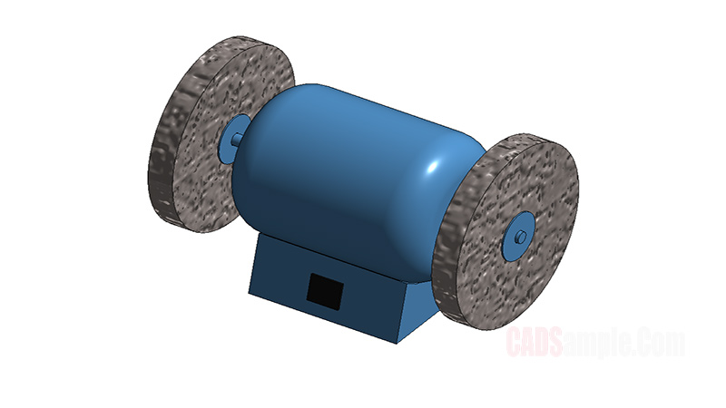 Bench Grinder Revit 3D Model Drawing