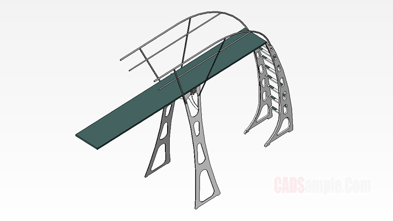 Diving Board 3 Meter Revit 3D Model Drawing
