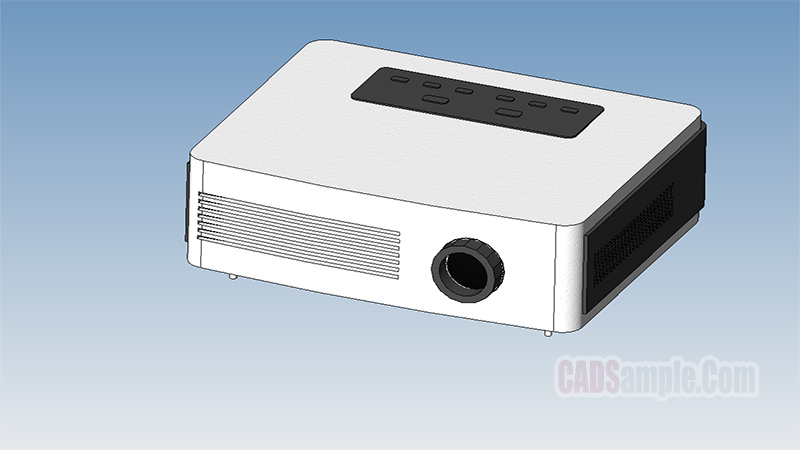 Home Cinema Video Projector Revit Model