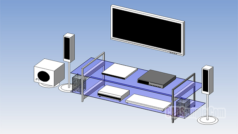 Home Theatre System Revit Model