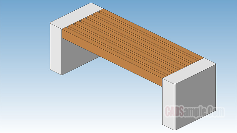 Parametric Park Bench Revit Model