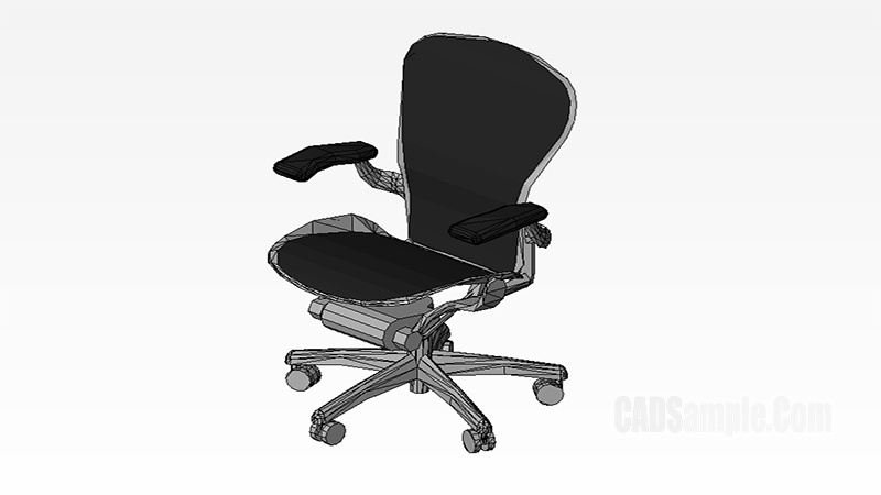 Work Chair Revit 3D Model Drawing