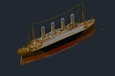 Titanic 3D Autocad Drawings