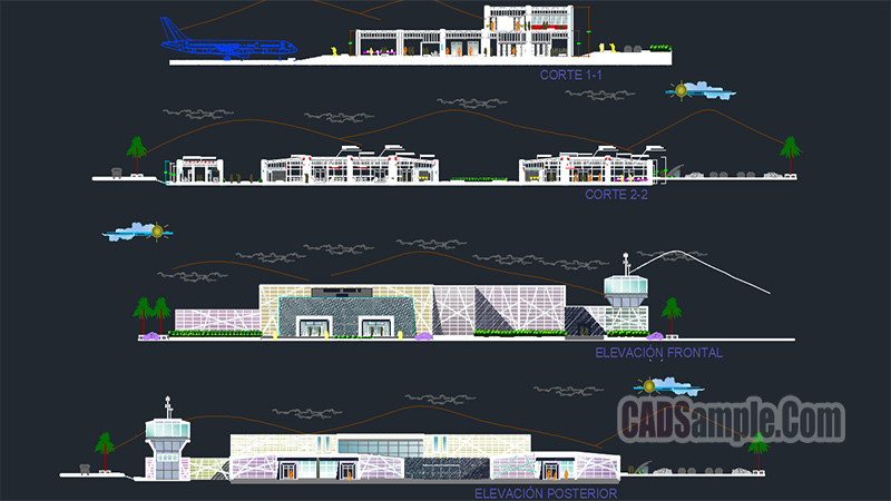 Airport Architecture Dwg Project