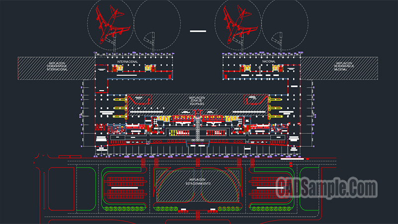 Airport Project Autocad Dwg