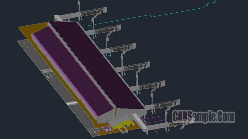 Airport 3D Autocad Drawing