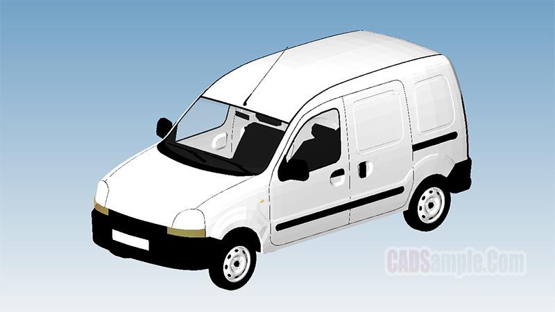 Renault Kangoo Express Revit 3D Model