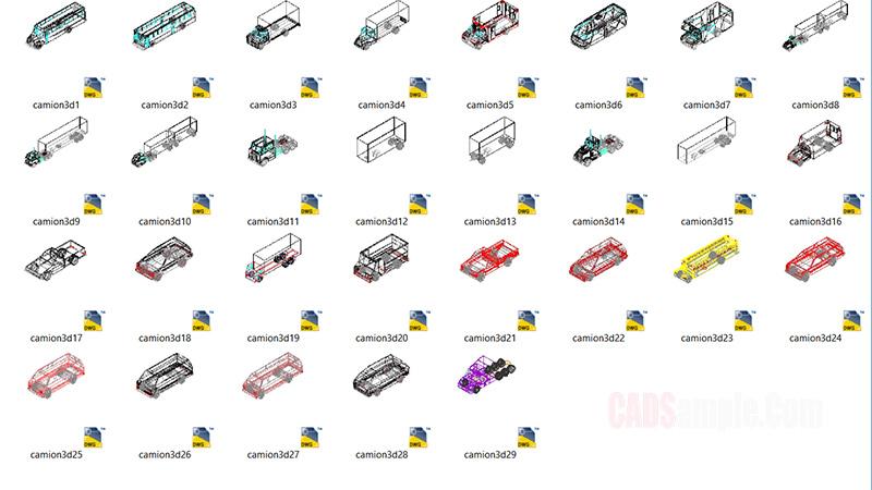 Trucks 3D Cad Blocks Archives