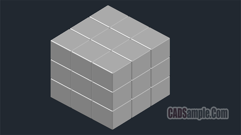 Rubiks Cube 3D Drawing