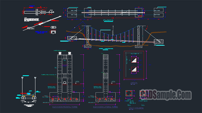 Bridge Technical Architectural DWG