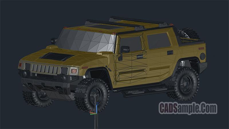 Hummer 3d Autocad Free Dwg Cadsample Com