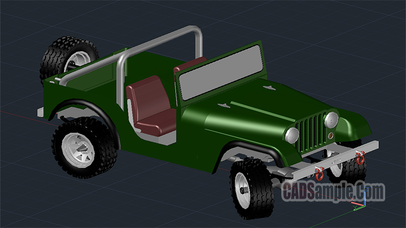 Jeep 3D Autocad Free DWG