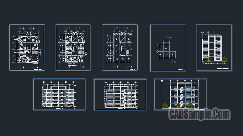 Office Building Architectural DWG Project
