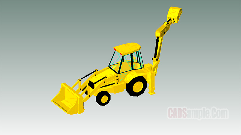 Front And Backhoe Loader Revit Model