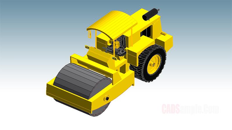 Road Roller Revit Model