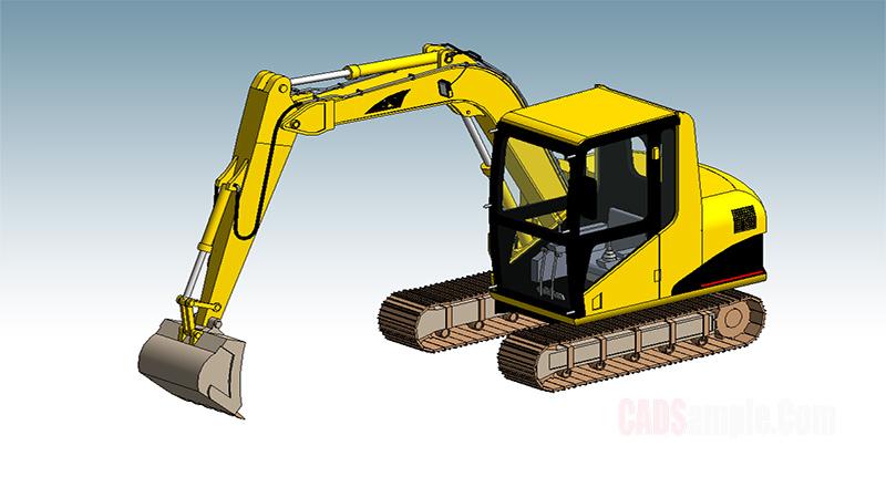 Excavator Revit Model