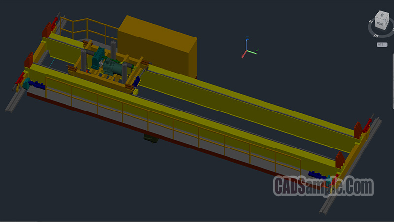 Crane Bridge 3D Autocad Dwg Drawing