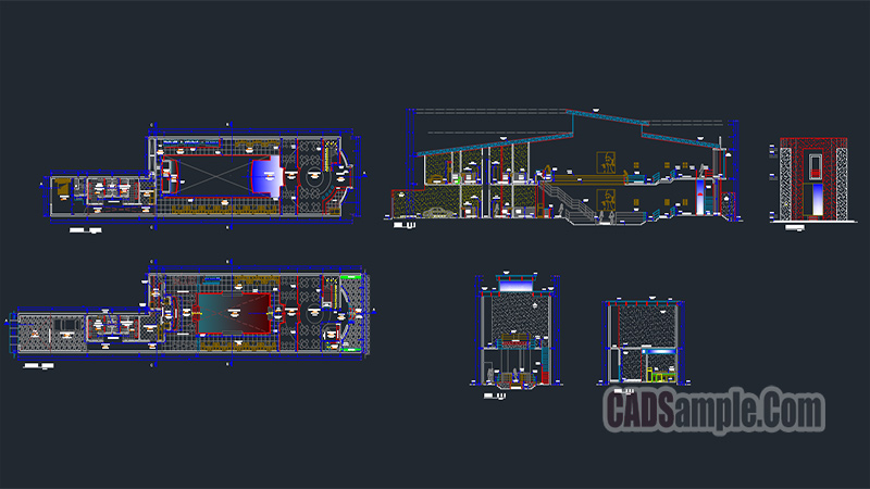 Disco Architecture Autocad Drawing