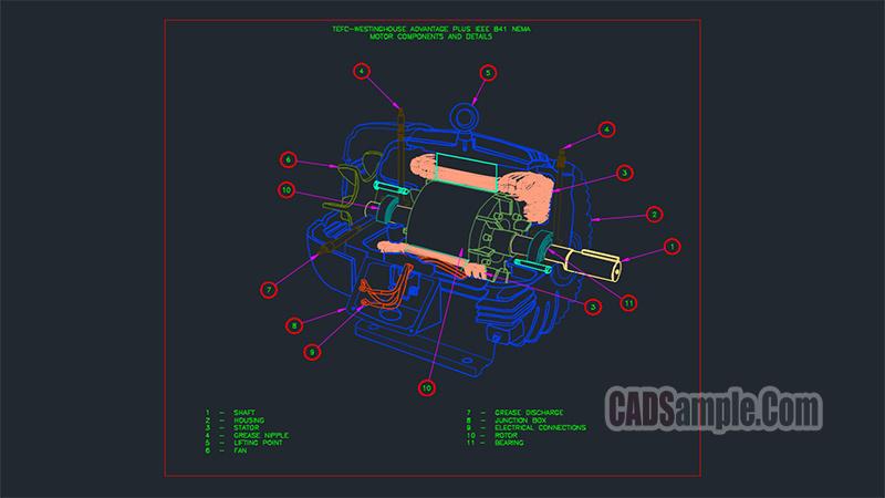 Asynchronous Motor Dwg