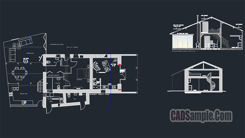 Barn House Autocad DWG Drawing
