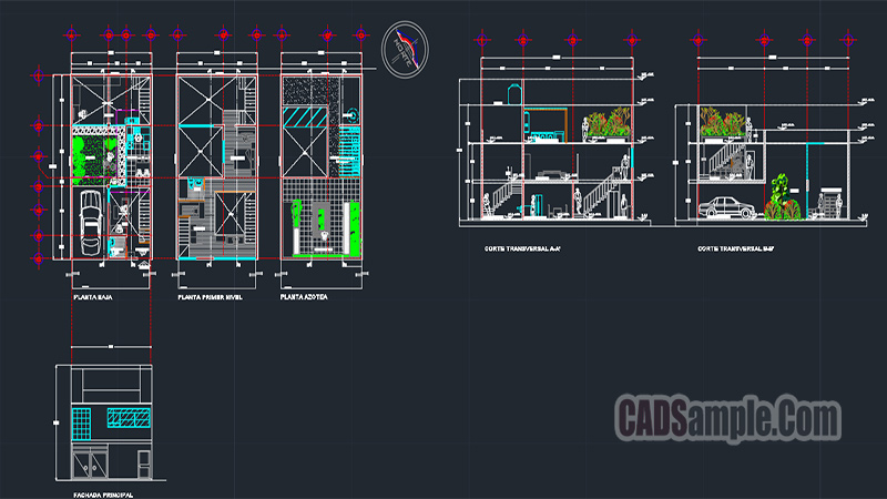American House Autocad Project DWG