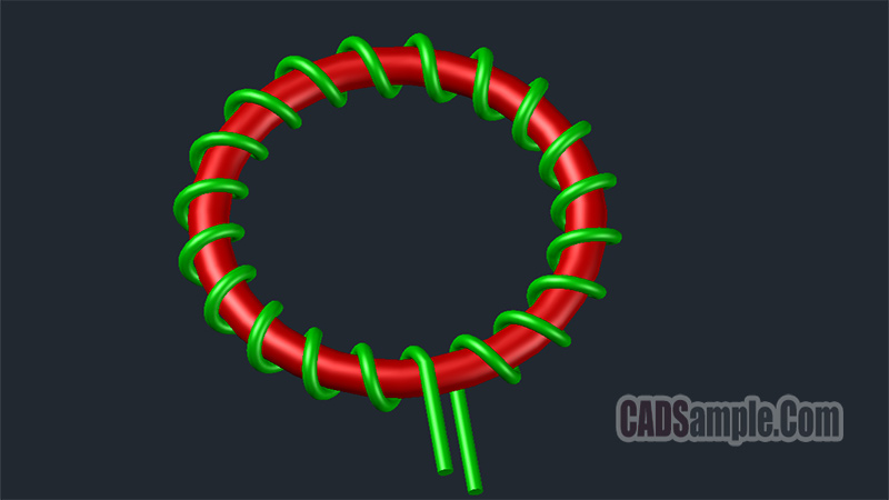 Coil Ring 3D Autocad Dwg