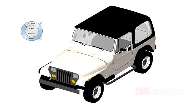 Free Jeep Revit 3D Drawing