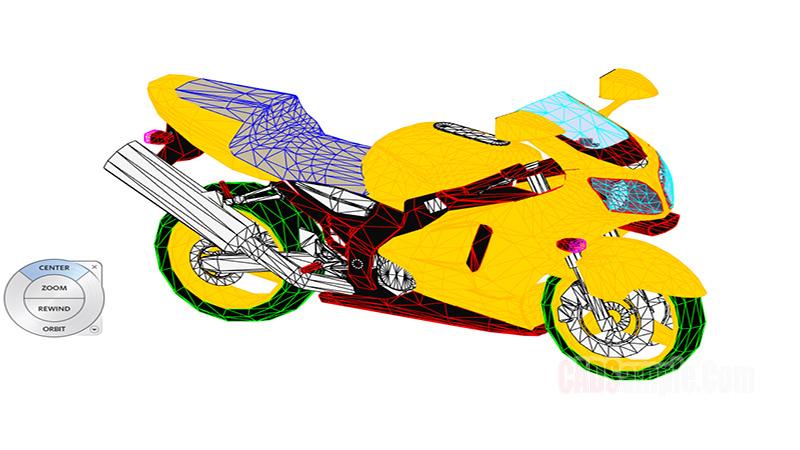 Race Motor Revit 3D Drawing