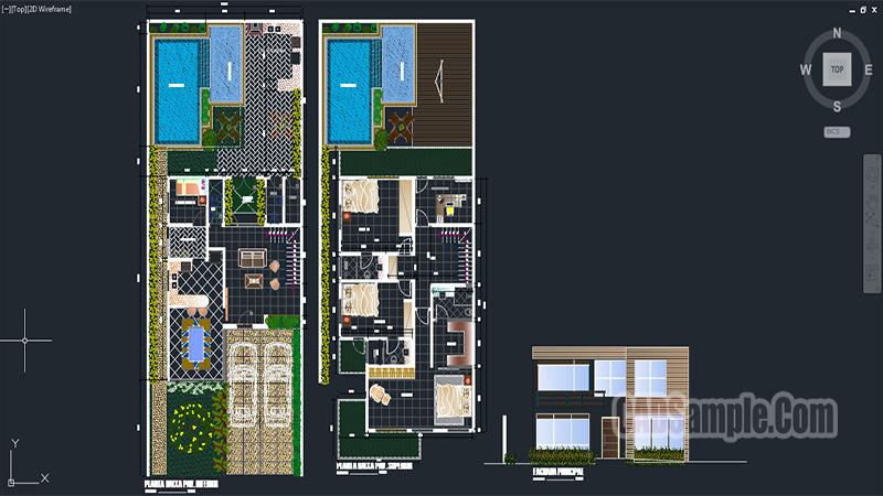 Cute Villa Architectural Project Dwg